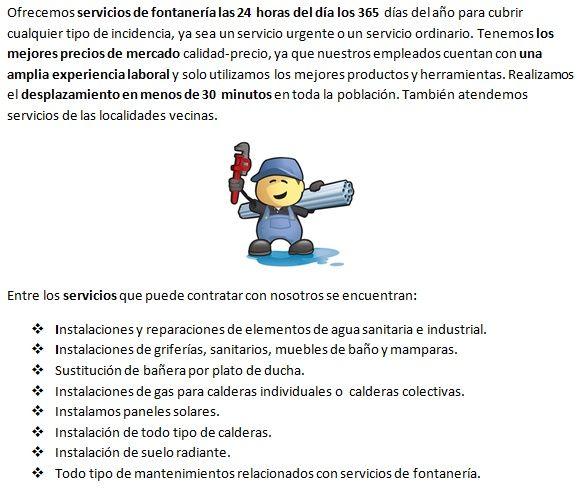 Fontaneros Palamós, servicios económicos